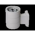 Светильник настенный наклад. с прозр. рассеив-м cветодиод. (LED) 9Вт 185-265В IP65 серый 600лм 6500К Jazzway