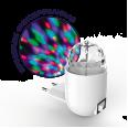 Светильник розеточный с фиксированной проекцией `диско`, 3W, белый 1/100