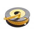 Маркер кабельный трубчатый в рулоне сечение 2,6-4,2 кв.мм (7)
