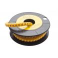 Маркер кабельный трубчатый в рулоне сечение 2,6-4,2 кв.мм (B)