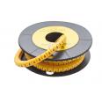 Маркер кабельный трубчатый в рулоне сечение 3,5-8,0 кв.мм (4)