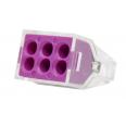 Зажим разветвительный втычной шестигнездовой фиолетовый макс.сечение 2,5 кв.мм 24 А (1 пакет/50 шт.)