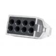Зажим разветвительный втычной восьмигнездовой серый макс.сечение 2,5 кв.мм 24 А (1 пакет/50 шт.)
