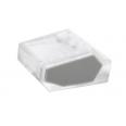 Зажим разветвительный втычной пятигнездовой прозрачный с серой вставкой макс.сечение 2,5 кв.мм 24 А (1 пакет/50 шт.)