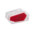 Зажим разветвительный втычной двухгнездовой прозрачный с красной вставкой макс.сечение 2,5 кв.мм 24 А (1 пакет/50 шт.)