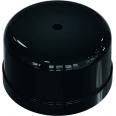 Коробка распределительная пластиковая D78мм, высота 43мм, IP20, цвет - черный, УСАДЬБА