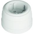 Розетка пластиковая, двухполюсная, с заземляющим контактом, цвет - белый, УСАДЬБА
