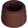 Розетка пластиковая, двухполюсная, с заземляющим контактом, цвет - какао, УСАДЬБА