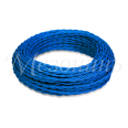 Провод монтажный витой ПВХ 2х0,75мм, цвет - синий шелк (бухта 50м), ТМ `МЕЗОНИНЪ`