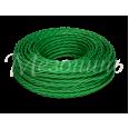 Провод монтажный витой ПВХ 2х0,75мм, цвет - зеленый шелк (бухта 50м), ТМ `МЕЗОНИНЪ`