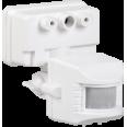 Датчик движения ДД 019 белый, макс. нагрузка 1100Вт, угол обзора 120град., дальность 12м, IP44, ИЭК
