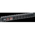 ITK PDU 7 розеток C13, с выкл. и защ. от перенапр, без шнура