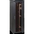 ITK Шкаф сетевой 19` LINEA N 18U 600х600 мм стеклянная передняя дверь черный