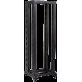 ITK 19` двухрамная стойка, 37U, 600x600, на роликах, черная