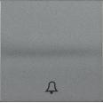HB-1-4-БА Накладка 1 клав. звонок BOLERO антрацит IEK