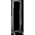 ITK 19` однорамная стойка, 32U, 600x600, на роликах, серая