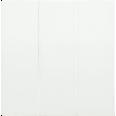 HB-3-0-ББ Накладка 3 клав. BOLERO белый IEK