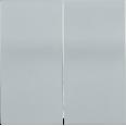 HB-2-0-БС Накладка 2 клав. BOLERO серебряный IEK