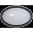 Светильник светодиодный ДПО 3041 12Вт 4500K IP54 овал пластик черный IEK