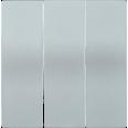 HB-3-0-БС Накладка 3 клав. BOLERO серебряный IEK
