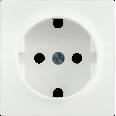 НР-1-1-ББ Накладка розетка с з/к BOLERO белый IEK