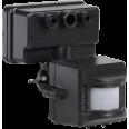 Датчик движения ДД 019 черный, макс. нагрузка 1100Вт, угол обзора 120град., дальность 12м, IP44, ИЭК