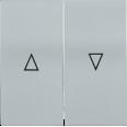 HB-1-5-БС Накладка 2 клав. жалюзи BOLERO серебряный IEK