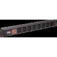 ITK PDU 7 розеток C13, с LED выкл, 1U, вх. C14, без шнура