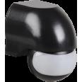 Датчик движения ДД 010 черный, макс. нагрузка 1100Вт, угол обзора 180град., дальность 10м, IP44, ИЭК