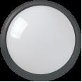 Светильник светодиодный ДПО 3011 8Вт 4500K IP54 круг пластик черный IEK