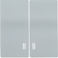 HB-2-1-БС Накладка 2 клав. с индик. BOLERO серебряный IEK