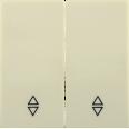 HB-2-2-БК Накладка 2 клав. проходн. BOLERO кремовый IEK