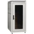 ITK Шкаф сетевой 19` LINEA N 18U 600х1000 мм стеклянная передняя дверь серый