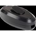 ВБ-01Ч Выключатель одноклавишный разборный для бра, черный IEK