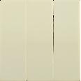 HB-3-0-БК Накладка 3 клав. BOLERO кремовый IEK