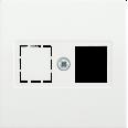 НТ12-1-ББ Накладка телеф. RJ12/HDMI BOLERO белый IEK