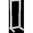 ITK 19` однорамная стойка, 37U, 600x600, на роликах, серая