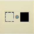 НТ12-1-БК Накладка телеф. RJ12/HDMI BOLERO кремовый IEK