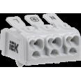 Клемма пружинная соединительная КСПн3-L+N+PE IEK