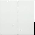 HB-2-1-ББ Накладка 2 клав. с индик. BOLERO белый IEK