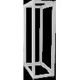 ITK 19` двухрамная стойка, 24U, 600x800 мм, серая