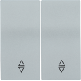 HB-2-2-БС Накладка 2 клав. проходн. BOLERO серебряный IEK