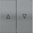 HB-1-5-БА Накладка 2 клав. для жалюзи BOLERO антрацит IEK
