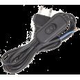Шнур УШ-1КВ опрессованный с вилкой со встроенным выключателем 2х0,75/2метра, черный ИЭК