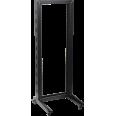 ITK 19` однорамная стойка, 32U, 600x600, на роликах, черная