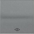 HB-1-3-БА Накладка 1 клав. перекрест. BOLERO антрацит IEK