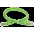ITK Коммутационный шнур (патч-корд), кат.5Е UTP, 1м, зеленый