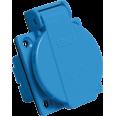 Розетка панельная РП10-3 скрытая с защитной крышкой 2Р+РЕ 16А 250В IP44 IEK