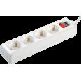 Удлинитель У04К-выкл. 4 места 2Р+PЕ/1,5 метра 3х1мм2 16А/250 IEK