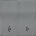 HB-2-2-БА Накладка 2 клав. проходн. BOLERO антрацит IEK